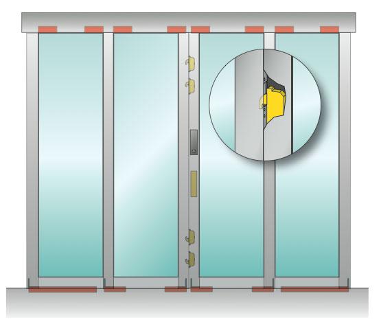Einbruchhemmende tür  DoorMaster - Einbruchhemmende Schiebetüren RC2 / RC3